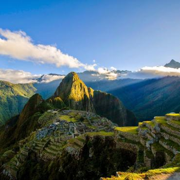 Manchu Picchu under the andean sky