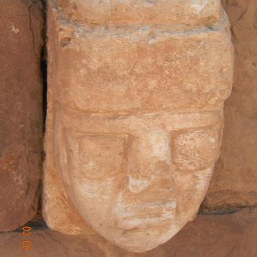 Heads of Tiahuanacu, Bolivia